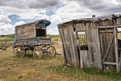 Old Time Cowboy Sheriff's Wagon Royalty Free Stock Images