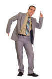 Old Time Dancing. Full body view of a businessman doing some dance moves Royalty Free Stock Images