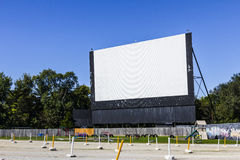 Free Old Time Drive-In Movie Theater With Outdoor Screen And Playground I Royalty Free Stock Photo - 78554765