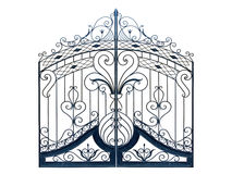 Old-time forged gates. Stock Photography
