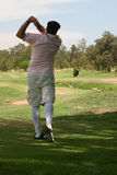 Old time golfer Royalty Free Stock Photography