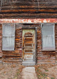 Old Time Grocery Door and Window Royalty Free Stock Photography