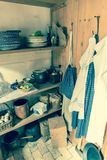 Old Time Kitchen Farm Pantry Stock Photography