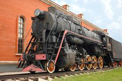 Old-time locomotive Royalty Free Stock Photo