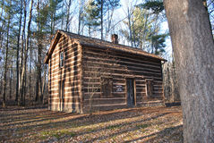 Old Time Log Cabin Stock Photo
