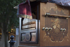 Old Time Music Machine. A old time Calliope music machine at a local downtown street fair Royalty Free Stock Image
