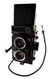 Old time photo camera Stock Photography