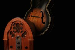 Old Time Radio And Guitar Stock Image