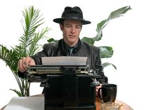 Old Time Reporter royalty free stock image