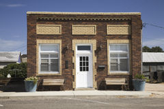Old-time storefront in Big Springs, royalty free stock photo