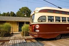 Old Time Street Trolley Stock Image