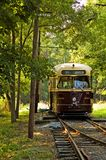 Old Time Street Trolley - 2. Functioning antique street trolley at the National Trolley Museum, Wheaton, Maryland Stock Photo