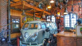 Old time vintage bar and biker Royalty Free Stock Photography