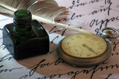 Old time. Old writing paper Stock Image