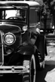 Old timer. A black and white of an old model t Royalty Free Stock Image