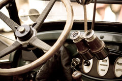 Old timer. Car with retro equipment Royalty Free Stock Image