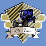 Old Timer badge Royalty Free Stock Images