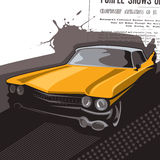 Old timer car. Background. Vector illustration Royalty Free Stock Images