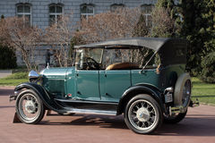 Old timer car. Beautifully restored old timer car from 1927 Stock Image