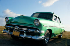 Old timer car. Old timer classic car from cuba Royalty Free Stock Images