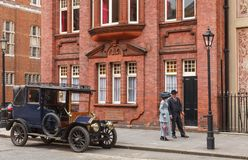 Old timer car on a street London UK Stock Photography