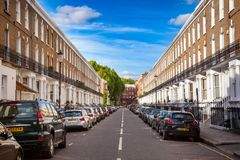 Old timer cars on a street London UK Stock Image