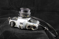 Old Timer. Old film camera who has served its owner well Royalty Free Stock Images