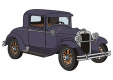 Old timer. Hand drawing of vintage car Royalty Free Stock Photos