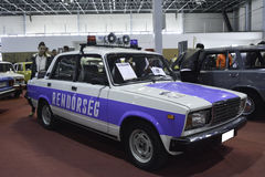 Old-timer hungarian police car. 11th Car and Motorcycle Tuning Show in Hungexpo, Budapest, Hungary. Photo taken to: March 19th, 2016 Stock Photos
