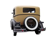 Old timer with just married plate Royalty Free Stock Photo