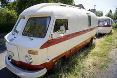 Old-timer motor home Stock Photography