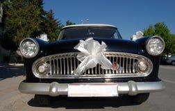 Old timer weddin car Royalty Free Stock Photos