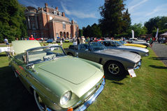 Old timers. WIJNEGEM, BELGIUM  SEPTEMBER 09: Antwerp Concours d'Elegance is a high-level classic car event, presenting rare and exotic sports- and luxurycars Stock Image