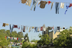 Old timers clotheslines Royalty Free Stock Photo