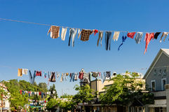 Old timers clotheslines Stock Photo