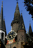 Old times. Church tower - Delft - Netherlands Royalty Free Stock Photo