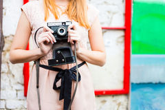 Old times photo camera Royalty Free Stock Images