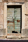 Old timeworn doors in Cetinje, Montenegro. Royalty Free Stock Photography