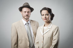 Old timey couple Royalty Free Stock Photography