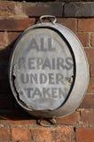 Old tin bath Royalty Free Stock Image