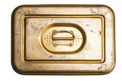 Old tin box Royalty Free Stock Photo
