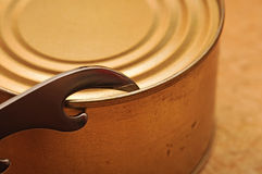 The old tin opener opening a can Stock Photography