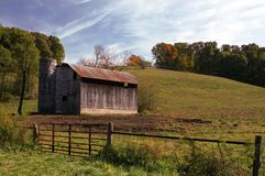 Old Tin Roof Barn Royalty Free Stock Photos