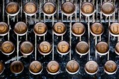 Old tipewriter. Close up of old vintage manual typewriter Royalty Free Stock Images