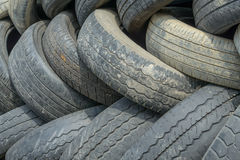 Old tire background Stock Image