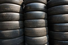 Old tire layers texture background royalty free stock images