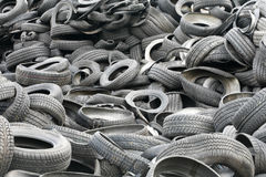 Old Tire. Lots of old tires dumped in a landfill Royalty Free Stock Image