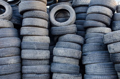 Old tire stack Royalty Free Stock Photo
