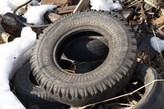 Old  tire Stock Images