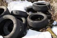 Old  tire Stock Photography